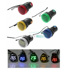 22mm Thermometer Indicator Light Led Digital Display Temperature Meter Ac50 380v