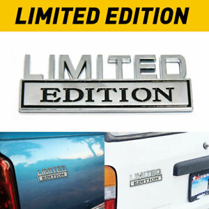 Limited Edition Chrome Emblem Badges Fits Chevy Ford Ram Gmc Jeep Car Truck D