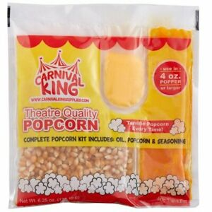 24 Pack 4 Oz All in one Popcorn Kit Large Butterfly Butter Popper Snack New