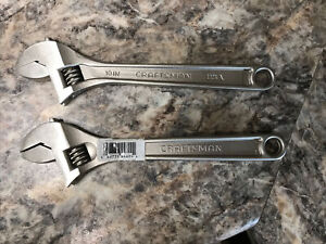 2 New Craftsman Made In Usa 10 Adjustable Wrench 44604 Usa Free Shipping