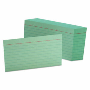 Ruled Index Cards 3 X 5 Green 100 pack