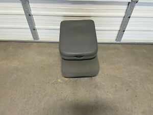 2002 2008 Dodge Ram 1500 2500 3500 Front Center Jump Seat Console Gray Cloth