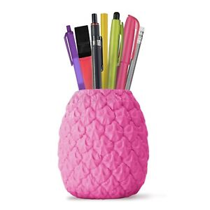 Mustard Seriously Tropical Pink Pineapple Pen Holder Pencil Pot Desk Organizer
