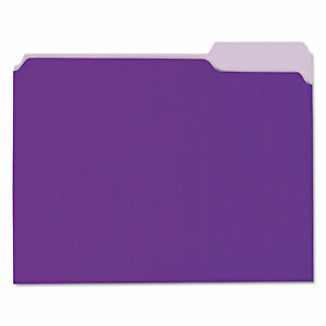 Universal Recycled Interior File Folders 1 3 Cut Top Tab Letter Violet 100 box