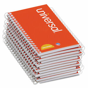 Universal Wirebound Memo Book Narrow Rule 5 X 3 Orange 12 50 Sheet Pads pack