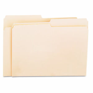 Universal File Folders 1 2 Cut One ply Top Tab Letter Manila 100 box 12112