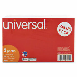 Universal Ruled Index Cards 5 X 8 White 500 pack 47255