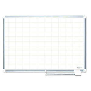 Mastervision Grid Planning Board 2x3 Grid 72x48 White silver Ma2793830