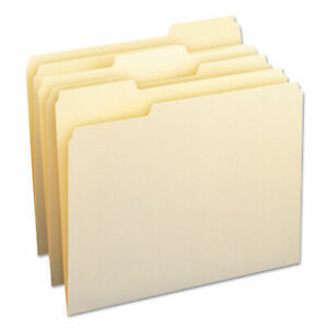 Smead File Folders 1 3 Cut Assorted One ply Top Tab Letter Manila 24 pack 11928