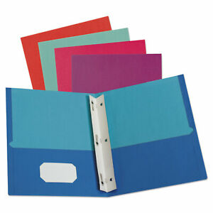 Oxford Twisted Twin Smooth Pocket Folder W fasteners Letter Assorted 10 pk 20 Pk