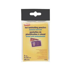 Staples 5 Mil Pouch Business Card 25 pack 17470 793745