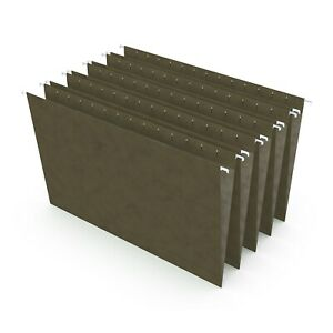 Staples Hanging File Folders Legal Size Standard Green 25 box 521252 Tr521252