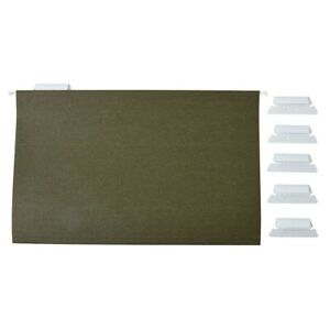 Staples Hanging File Folders 5 Tab Legal Size Standard Green 50 bx Tr490853