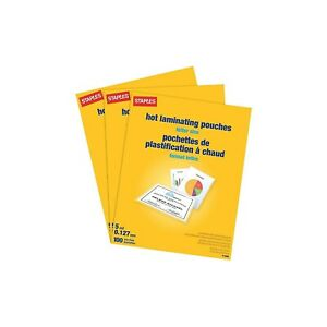 Staples 5 Mil Thermal Laminating Pouches Letter 300 Pack 5245701