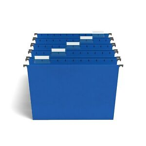 Staples Hanging File Folders 5 tab Letter Size Blue 25 box 163501 Tr163501