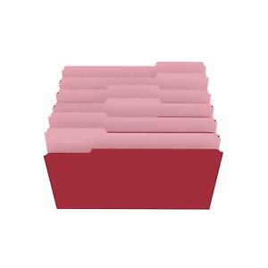 Staples Colored Top tab File Folders 3 Tab Red Legal Size 100 pack 224550