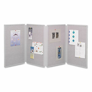 Quartet Tabletop Display Presentation Board 72 X 30 Gray Surface Gray Frame