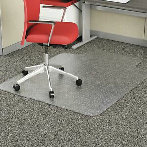 Alera Studded Chair Mat For Flat Pile Carpet 36 X 48 With Lip Clear