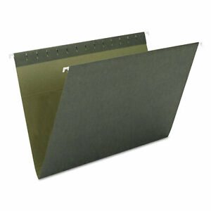 Smead Hanging File Folders Untabbed 11 Point Stock Letter Green 25 box 64010