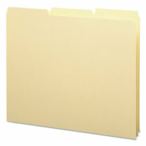 Smead Recycled Tab File Guides Blank 1 3 Tab 18 Pt Manila Letter 100 box 50134