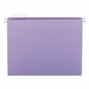 Smead Hanging File Folders 1 5 Tab 11 Point Stock Letter Lavender 25 box 64064
