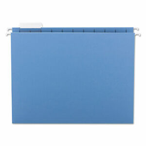 Smead Hanging File Folders 1 5 Tab 11 Point Stock Letter Blue 25 box 64060