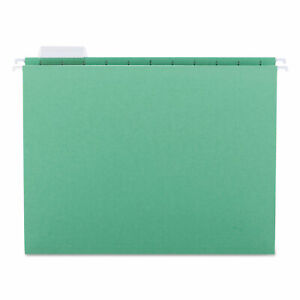 Smead Hanging File Folders 1 5 Tab 11 Point Stock Letter Bright Green 25 box