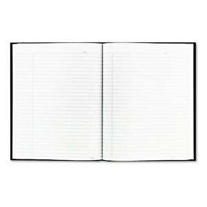 Blueline Business Notebook W black Cover College Rule 9 1 4 X 7 1 4 192 sheets