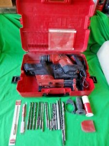 Hilti Te5 Rotary Hammer Drill Bits Case Dust Removal Tool works No Returns