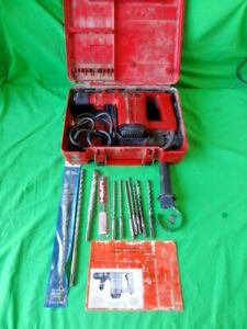 Hilti Te12 Rotary Hammer Drill Bits Carrying Case Tool works No Returns