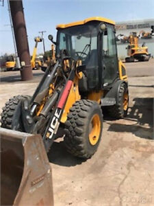 2016 Jcb 407 4x4 Compact Wheel Loader W Cab Coupler Clean