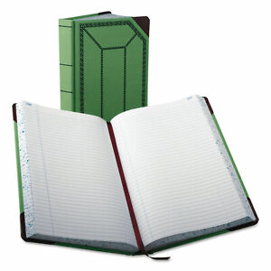 Boorum Pease Record account Book Record Rule Green red 500 Pages 12 1 2 X 7 5