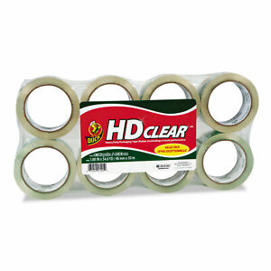 Duck Heavy duty Carton Packaging Tape 1 88 X 55 Yards Clear 8 pack 282195
