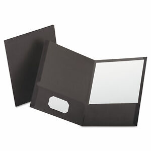 Oxford Linen Finish Twin Pocket Folders Letter Gray 25 box 53405
