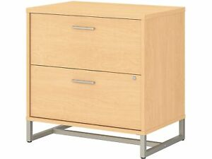 Office By Kathy Ireland 2 drawer Lateral File Cabinet Locking Letter legal Maple