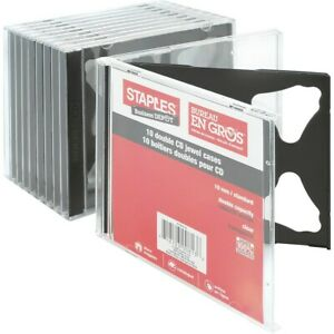 Staples Double Cd Jewel Cases 10 pack 10379 cc 392009