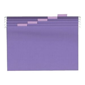 Staples Hanging File Folders 5 Tab Legal Size Purple 25 box 419218