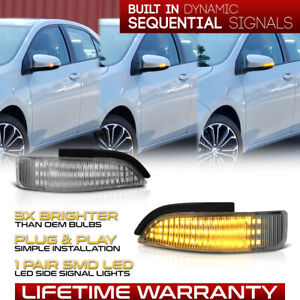 Toyota Corolla Prius C Full Led Sequential Signal Side Mirror Lights Lamps Pair