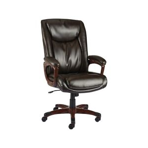 Staples Westcliffe Bonded Leather Managers Chair Brown 2263720