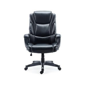 Staples Mcallum Bonded Leather Managers Chair Black 51473