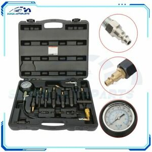 Diesel Compression Tester Gauge Adaptor Diagnosis Semi Engine Testing Car Truck