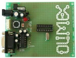 Microchip Pic Prototyping Pcb 18 Pin Rs232 Icsp 20mhz