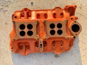 Rare 318 Poly Motor Dual Quad Intake 2x4 Two Four Manifold Dodge Plymouth