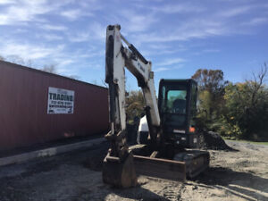 2012 Bobcat E45 Hydraulic Mini Excavator W Cab Clean Only 3200 Hours