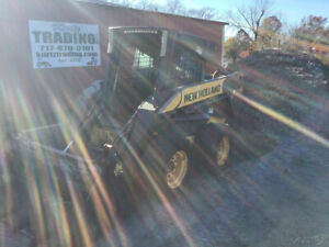 2008 New Holland L180 Skid Steer Loader W Cab 4 1 Bucket Clean