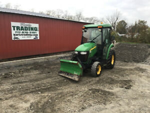 2012 John Deere 3520 4x4 Hydro Compact Tractor W Cab Front Snow Blade 1000hrs