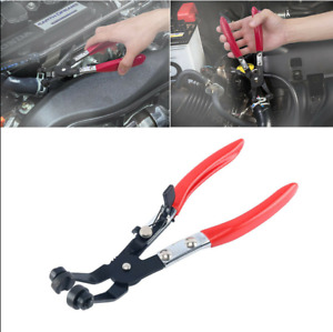 45 Angled Swivel Jaw Locking Hose Clamp Pliers Fuel Coolant Pipe Clip Hand Tool