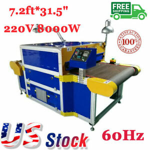 Usa 220v 8000w Conveyor Tunnel Dryer 7 2ft X 31 5 Belt 60hz