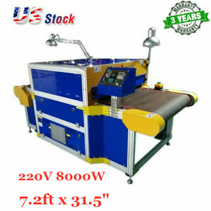 Us Stock 220v 8000w Conveyor Tunnel Dryer 7 2ft Long X 31 5 Wide Belt