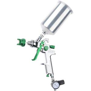Spray Paint Gun Kit 2 5mm Hvlp Gravity Feed With Regulator Basecoat Clearcoat